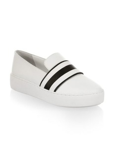 Michael Kors Marina Leather Slip-On Sneakers
