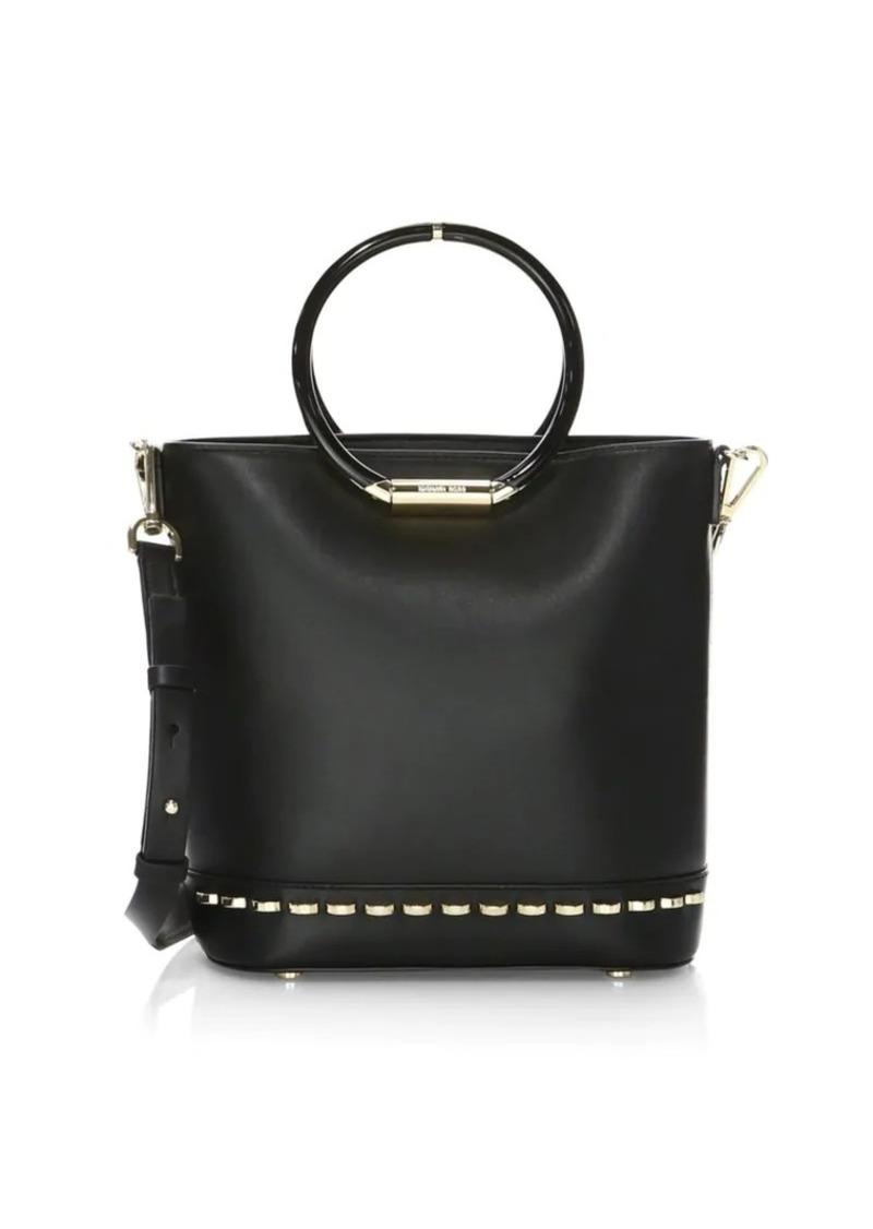 1e421c2012d2 MICHAEL Michael Kors Medium Leather Bucket Bag
