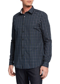 Michael Kors Men's Brann Classic-Fit Check Cotton Shirt