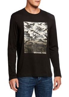 Michael Kors Men's Camo Graphic Long-Sleeve T-Shirt