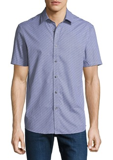 Michael Kors Men's Carter Check Print Short-Sleeve Sport Shirt