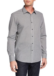 Michael Kors Men's Classic-Fit Gingham Shirt