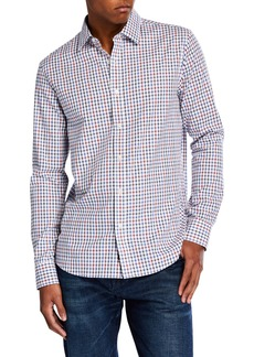 Michael Kors Men's Classic-Fit Herringbone Shirt