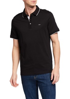 Michael Kors Men's Contrast-Trim Logo Polo Shirt