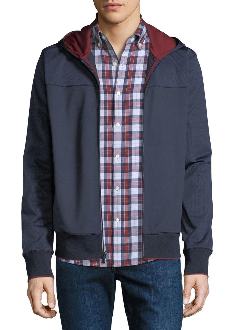 Michael Kors Men's Contrast-Trim Nylon Zip-Front Hoodie