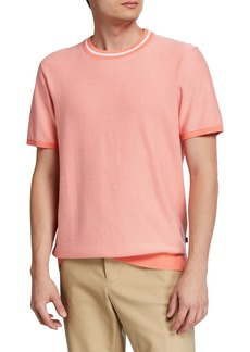 Michael Kors Men's Cotton Short-Sleeve Sweater