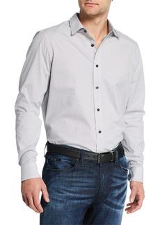 Michael Kors Men's Dalton Classic-Fit Printed Sport Shirt