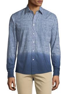 Michael Kors Men's Dip-Dyed Gingham Button-Down Shirt