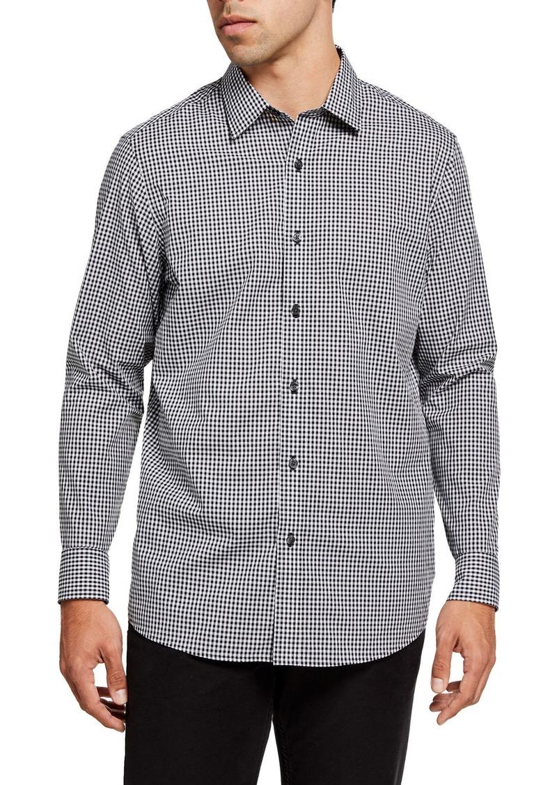 Michael Kors Men's Gingham Check Sport Shirt
