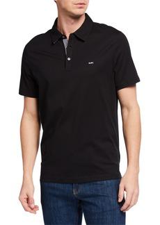 Michael Kors Men's Gingham-Trim Logo Polo Shirt