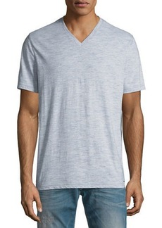 Michael Kors Men's Heathered V-Neck Tee