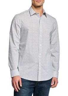 Michael Kors Men's Long-Sleeve Distress Dot Sport Shirt