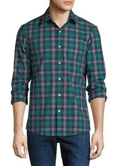 Michael Kors Men's Plaid Stretch Cotton Button-Down Shirt