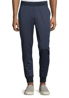 Michael Kors Men's Ribbed-Trim Nylon Jogger Pants