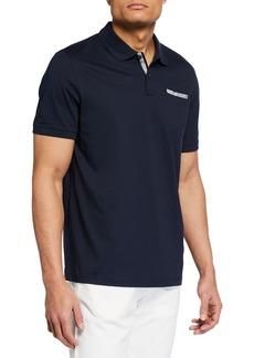 Michael Kors Men's Ribbon-Trim Pocket Polo Shirt