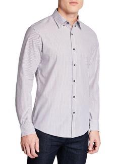 Michael Kors Men's Slim-Fit Multi-Stripe Sport Shirt