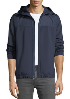 Michael Kors Men's Sporty Scuba Zip-Front Hoodie Jacket