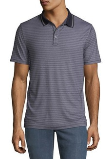 Michael Kors Men's Tipped-Collar Jacquard-Stripe Polo