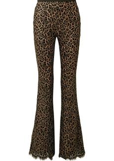 Michael Kors Metallic Corded Lace Flared Pants