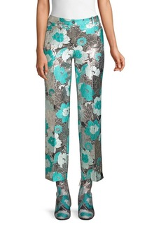 Michael Kors Metallic Cropped Trousers