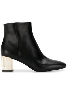 Michael Kors metallic heel ankle boots