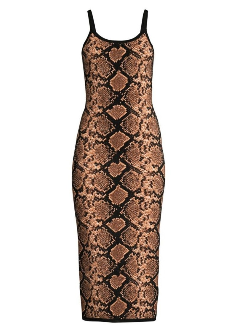 Michael Kors Metallic Python Slip Dress