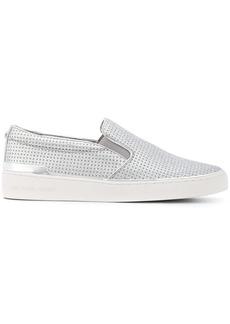Michael Kors metallic slip-on sneakers
