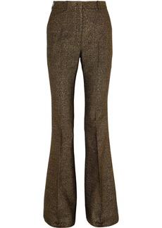 Michael Kors Metallic Wool-blend Flared Pants