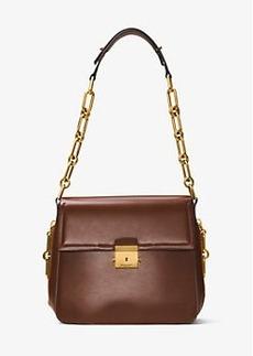 Michael Kors Mia French Calf Leather Shoulder Bag