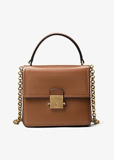 Michael Kors Mia Leather Shoulder Bag