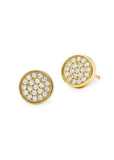 Michael Kors 14K Goldplated Sterling Silver and Cubic Zirconia Pavé Stud Earrings