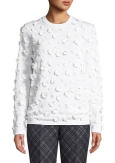 Michael Kors Collection 3D Floral-Embellished Sweater