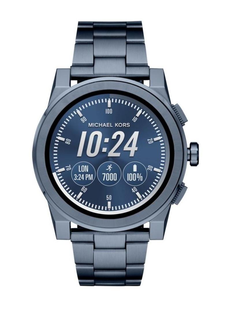 Michael Kors Access Grayson Blue IP Touchscreen Bracelet Smart Watch