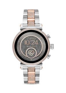 Michael Kors Access Sofie 2.0 Pav� Two-Tone Link Bracelet Touchscreen Smartwatch, 51mm