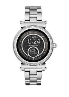 01fa1c1692fd6 Michael Kors Access Sofie Stainless Steel Touchscreen Bracelet Smart Watch