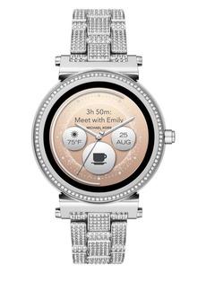 d4cda84907a65 Michael Kors Access Sofie Stainless Steel Touchscreen Pave Bracelet Smart  Watch