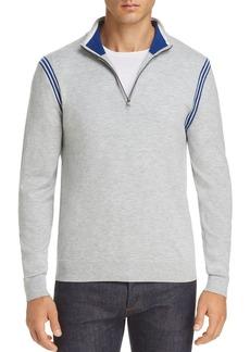 Michael Kors Active Stripe Zip Sweater