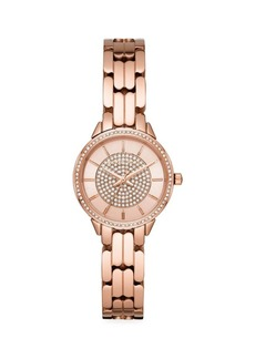 Michael Kors Allie Pavé Rose Goldtone Stainless Steel Bracelet Watch