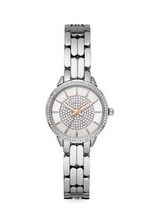Michael Kors Allie Pavé Stainless Steel Bracelet Watch