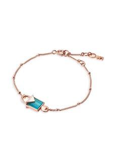 Michael Kors Semi Precious Stone and Sterling Silver Mercer Padlock Bracelet