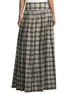Michael Kors Banded-Waist Plaid Hostess Skirt