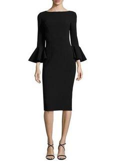 Michael Kors Bell-Cuff Bateau-Neck Sheath Dress