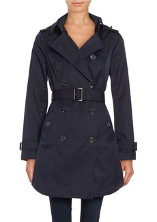MICHAEL KORS Belted and Hooded Trench Coat