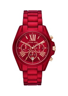 Michael Kors Bradshaw Chronograph Red Stainless Steel Watch