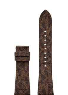 Michael Kors Bradshaw Logo-Print Leather Smartwatch Strap, 22mm