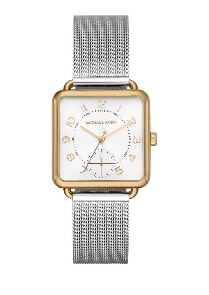 Michael Kors Brenner Stainless Steel Mesh Bracelet Watch