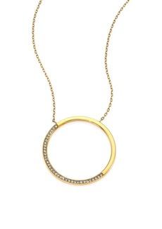 Michael Kors Brilliance Circular Pavé Pendant Necklace