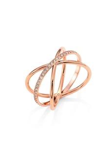 Michael Kors Brilliance Crisscross Pavé Ring