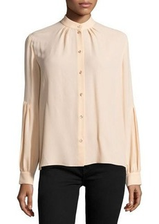 Michael Kors Button-Front Dropped-Shoulder Blouse