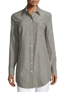 Michael Kors Button-Front French-Cuff Tunic